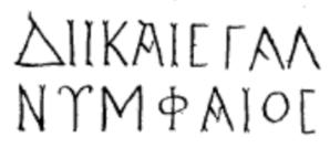 Nymphaeus inscription